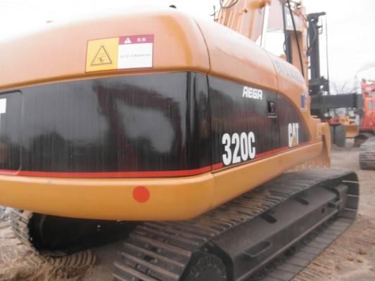 Used Cat 320C crawler excavator in good condition for building