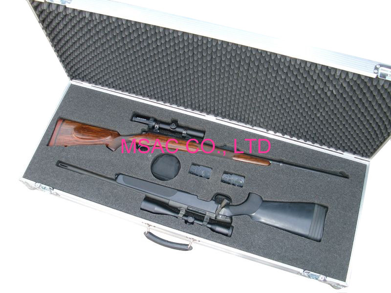 Aluminum Gun Carry Cases with foam