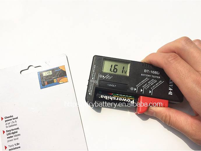 1.5v D C AA AAA size battery taster