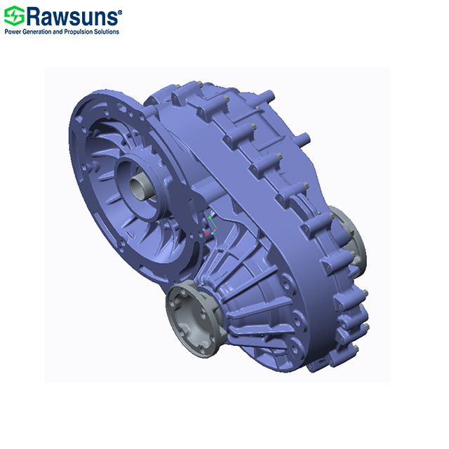 Rawsuns NEW ratio 12.48 10000rpm electric motor ev gearbox reducer for car 4.5 tons below M1 N1 M2