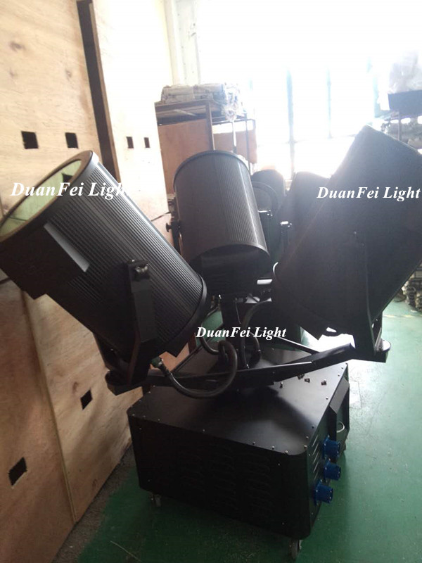 High power 1kw-7kw 3 head sky search light