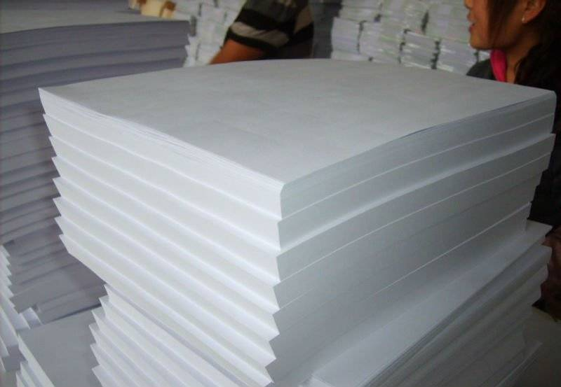virgin wood pulp copy paper
