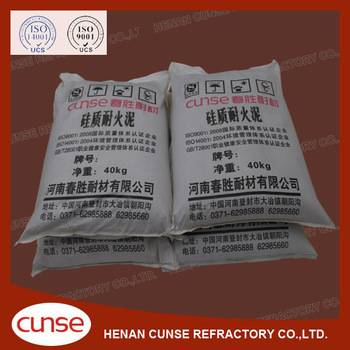 qualified manufacturer silica refractory mortar for hot blast stove