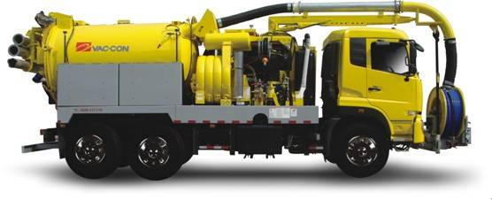 Combined sewer cleaning Vehicle