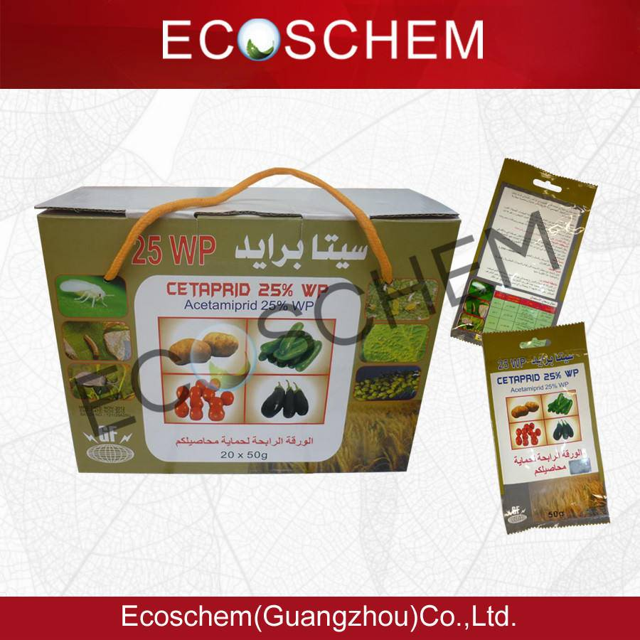 Agriculture chemical insecticide acetamiprid 20% SL 25% WP 70% WDG