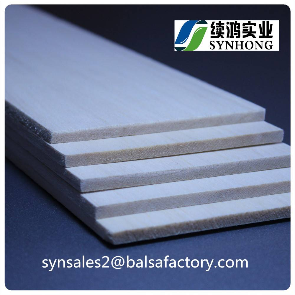 Light Weighted Balsa Sheets Sticks for Fishing Buoy