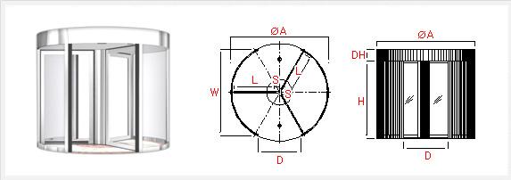3-WING AUTOMATIC REVOLVING DOOR