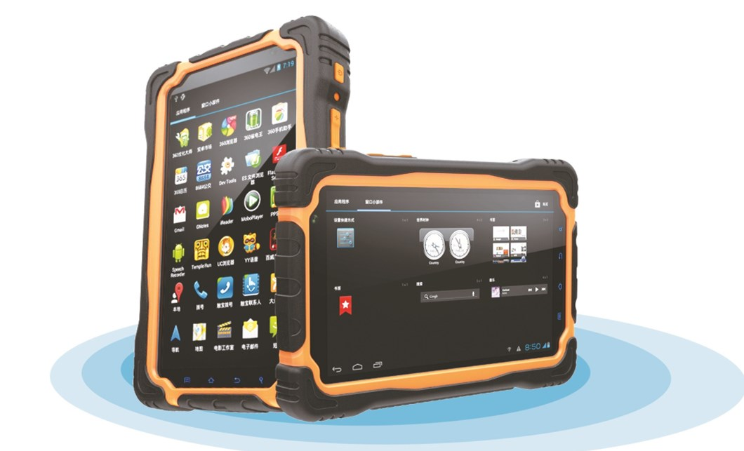 Rugged Tablet Pc 7 Inch Ip67 Android Rfid Barcode Scanner T70