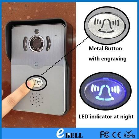 Wireless Home Security Door Doorbell Wireless WiFi Video Visual Doorbell with Free APP for Phone Tab
