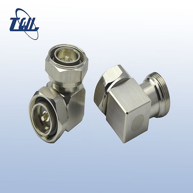 low pim right angle din male to din male adapter connector