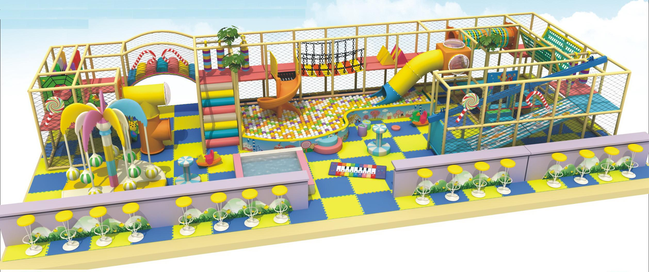 Amusement park indoor play equipment
