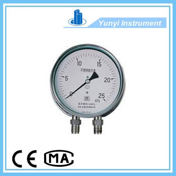 CYW-152B stainless steel differential pressure gauge