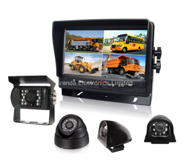 7in TFT LCD Screen Monitor Camera System with Quad Image View