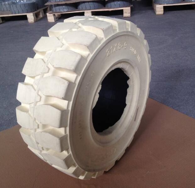 airless wheels 21x8-9 for port steel mill