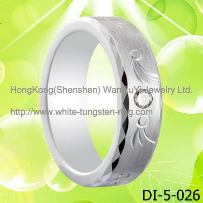 Platinum Ring White Gold Ring White Tungsten Ring for Wedding Hot Sales