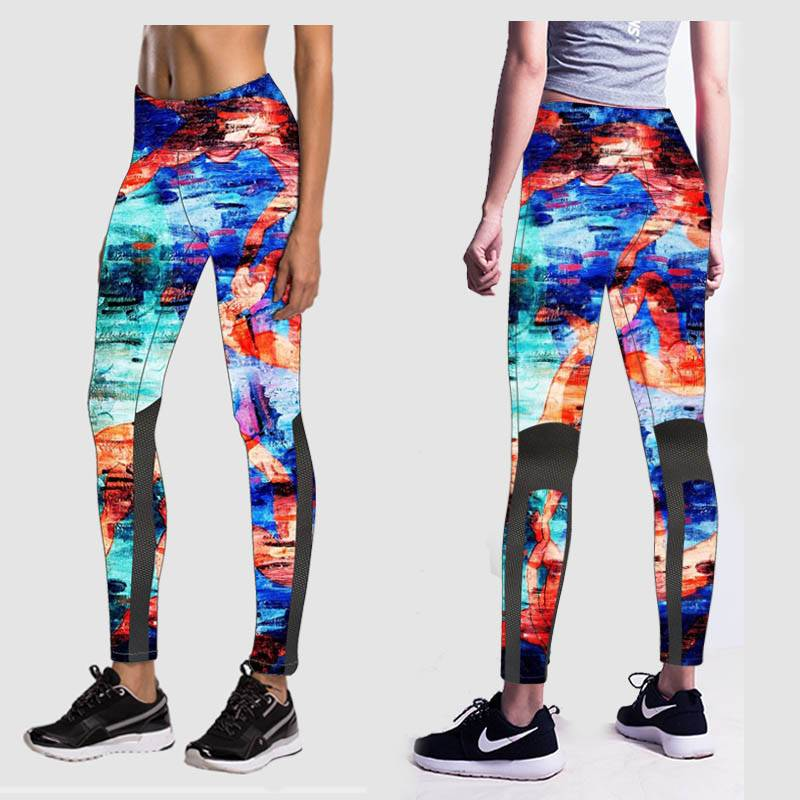 Latest design tight fitted SUPPLEX high quality yoga pants running tights for women