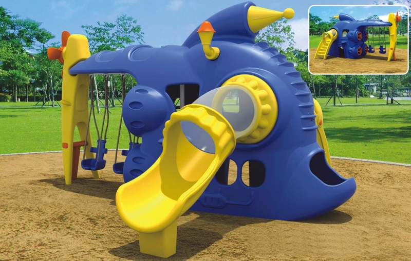 WD-W089 Comprehensive Swing&Slide Outdoor Playground Equipment, Quality Assurance