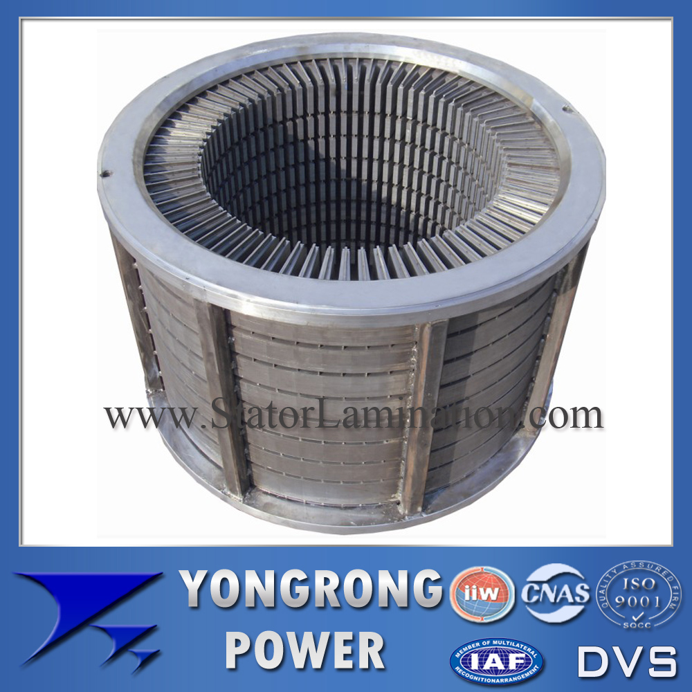 IE3 Efficiency High Voltage Electric Motor Laminated Stator Core