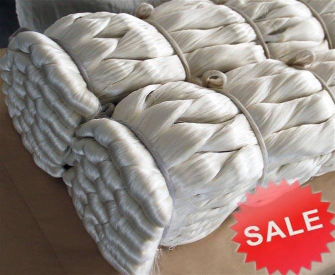 100% Mulberry Raw Silk Yarn 20/22D (White Steam Filature)