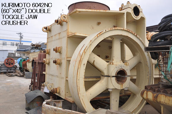 "USED ""KURIMOTO"" 6042NC (60"" X 42"") DOUBLE TOGGLE JAW CRUSHER S/NO. M80-864"