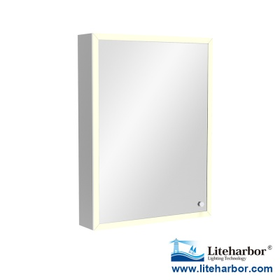 Framed Bathroom Illuminated Mirror Cabinet