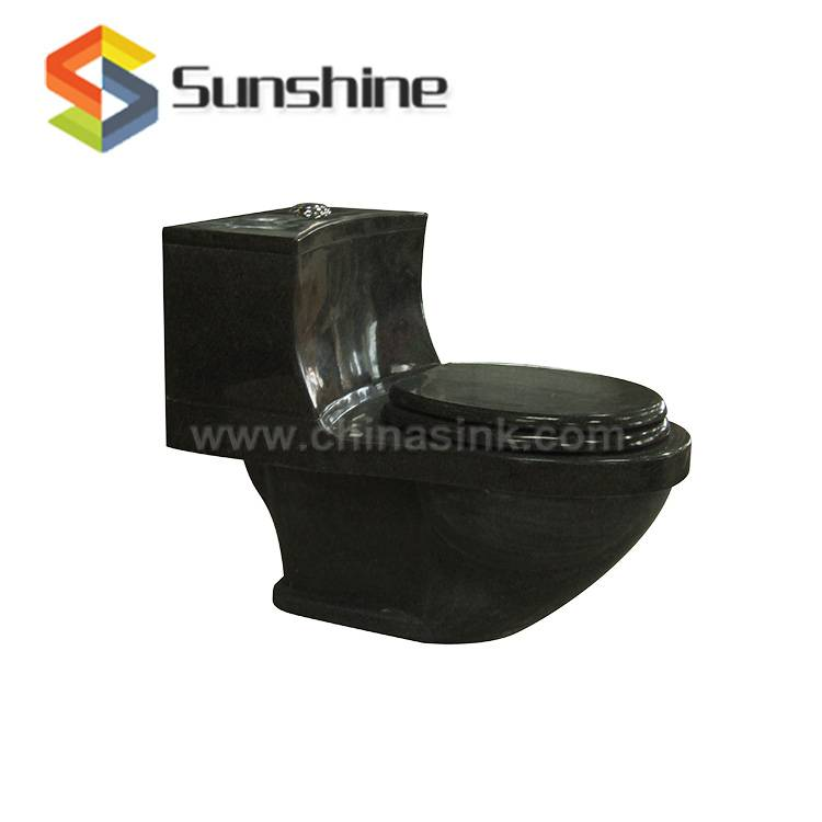 Absolute Black Polished Stone Toilet
