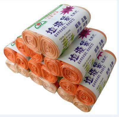 Biodegradable flat bottom packaging plastic garbage bag