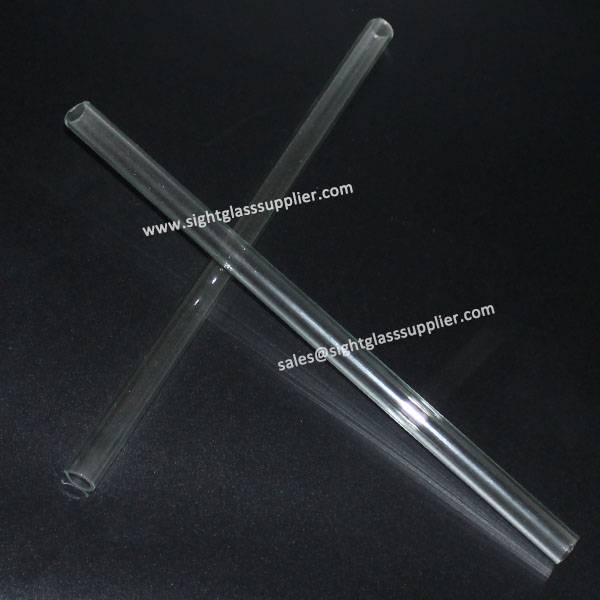 Transparent Fire Polished Glass Tube