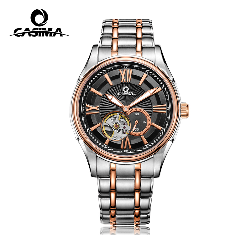 Man automatic mechanical watch with gold plating