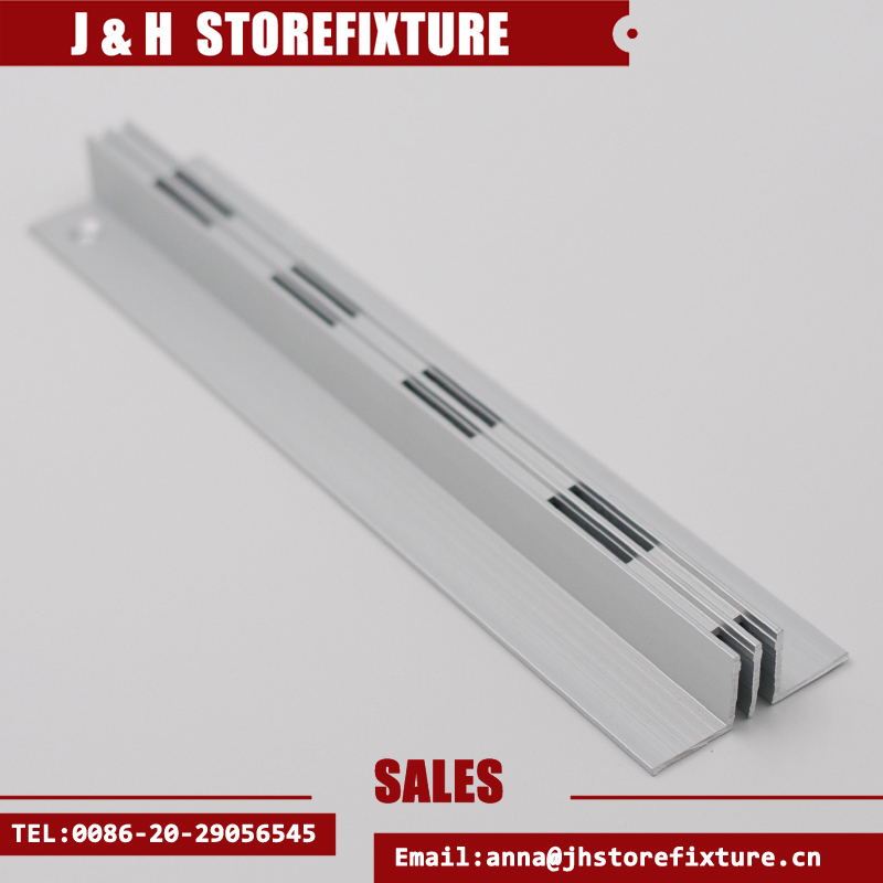 Double slotted invisible vertical aluminium profile
