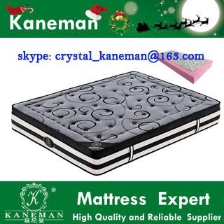 Foam Encased Pocket Spring & Latex Mattress, Bamboo Charcoal Fabric