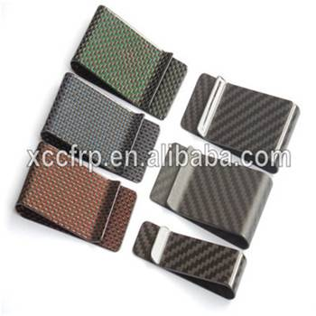 hot sales real carbon fiber money clip carbon fiber wallet