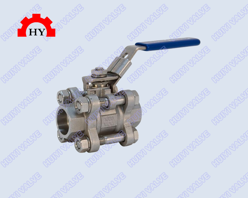 3-pc socket weld ball valve
