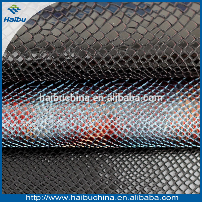 Snake embosss imitation leather,luxury faux leather