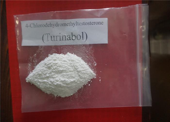 Raw Steroid Powder Oral Turinabol / 4-Chlorodehydromethyltestosterone CAS 2446-23-3 For Muscle Gain