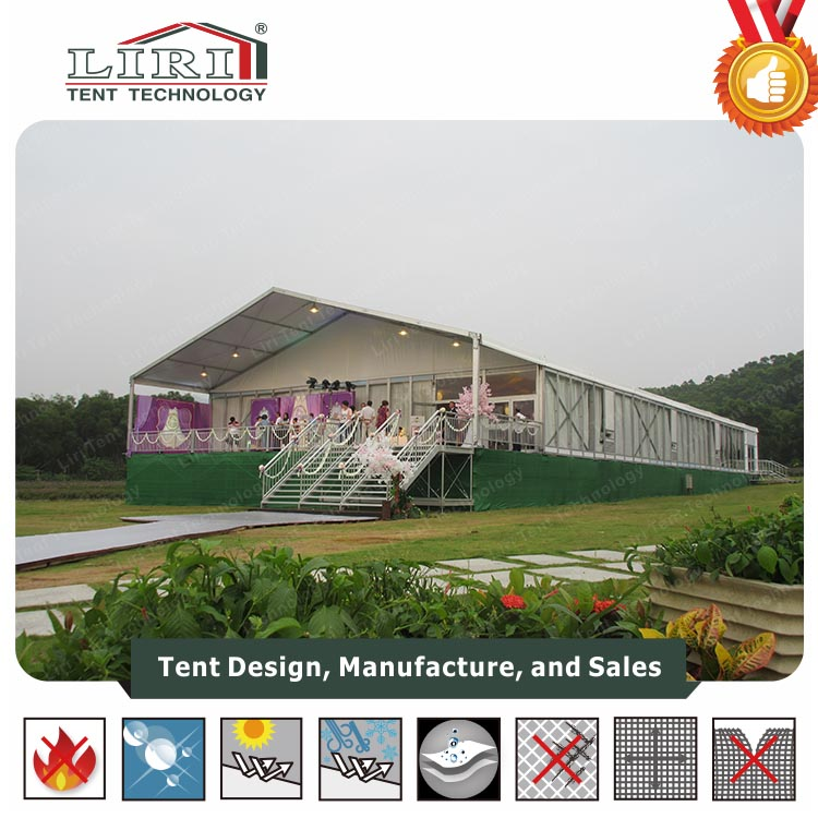White Solid Wall Aluminum Romantic Wedding Marquee Tent For Sale in HongKong