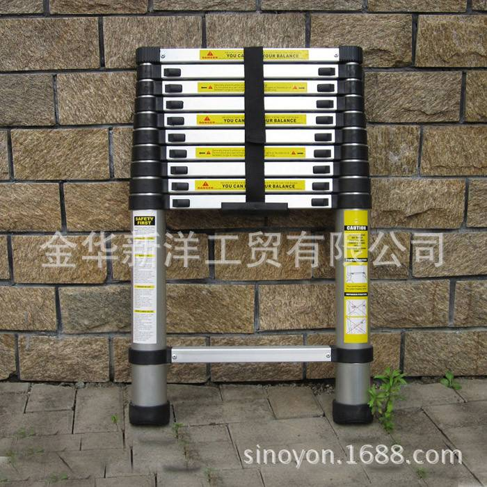 3.8m telescopic ladder , aluminum ladder, household ladder, aluminum ladder, household ladder -
