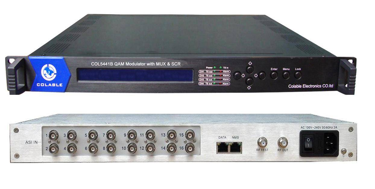 COL5441B 4 Channels QAM Modulator with Mux&Scr can support 16 *ASI in