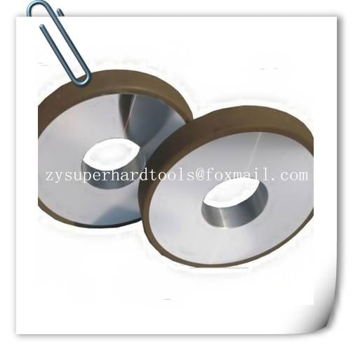 Resin diamond grinding wheels for thermal spraying material