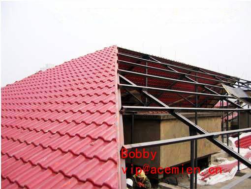 Replace ceramic tile-Glazed Tile Roof Roll Forming Machine for Customized Plastic Colorful