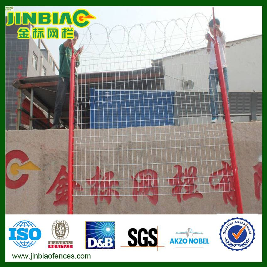 pvc coated wire mesh fence(factory)