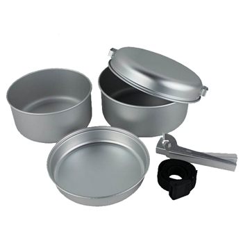 5pcs aluminum camping cook sets