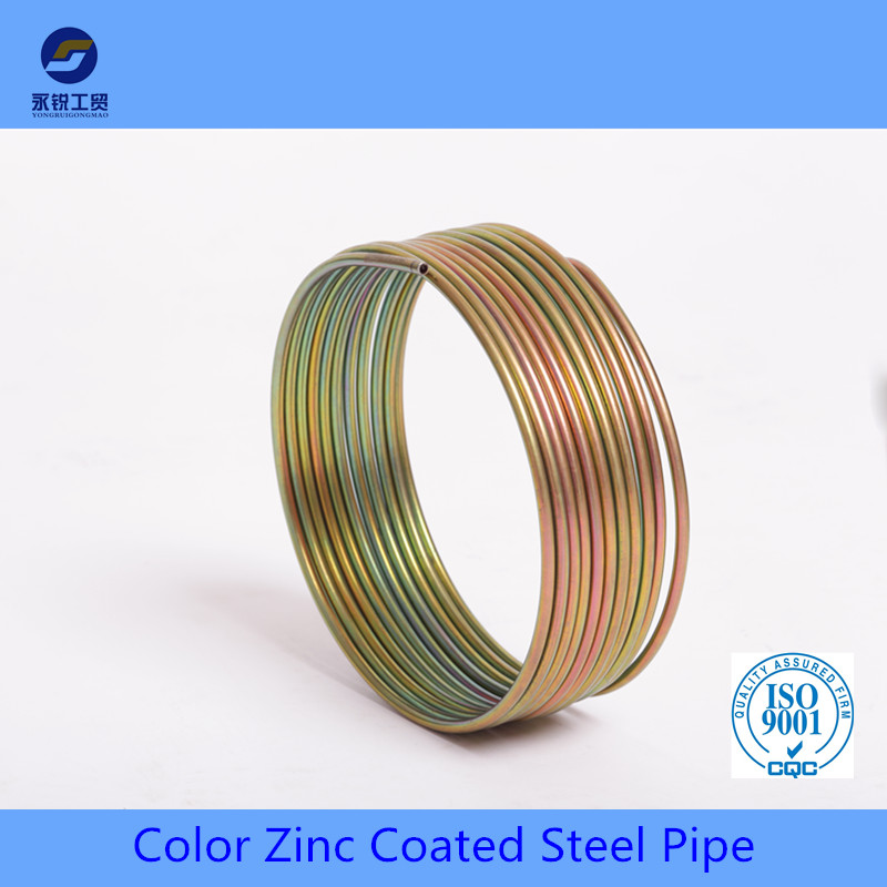double wall color coated bundy pipe for auto brake system