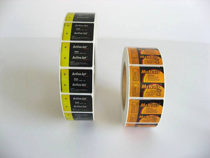 adhesive label for battery