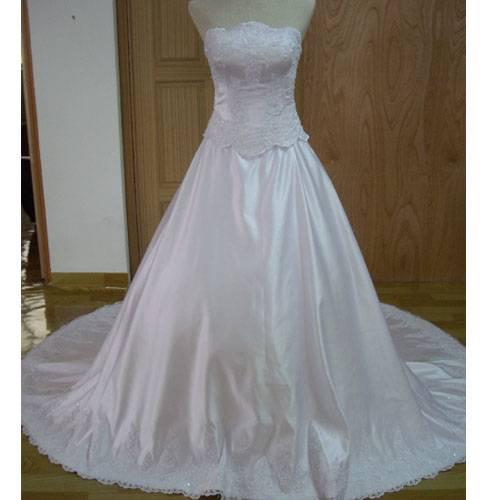 Elegant long Wedding Dress HS005