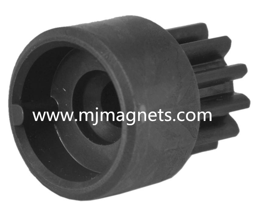plastic injection bonded sensor magnet for gear