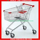 150L four wheels steel supermarket trolley