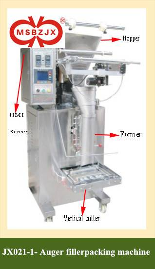 JX021-1Fully Automatic Large Scale Auger Filler Packaging machinery by Mini Computer