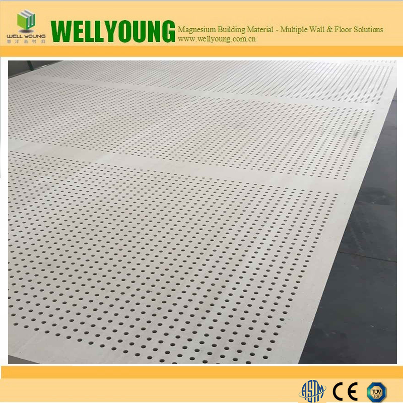 Perforated Acoustic Sound Absorption Gypsum Ceiling Board