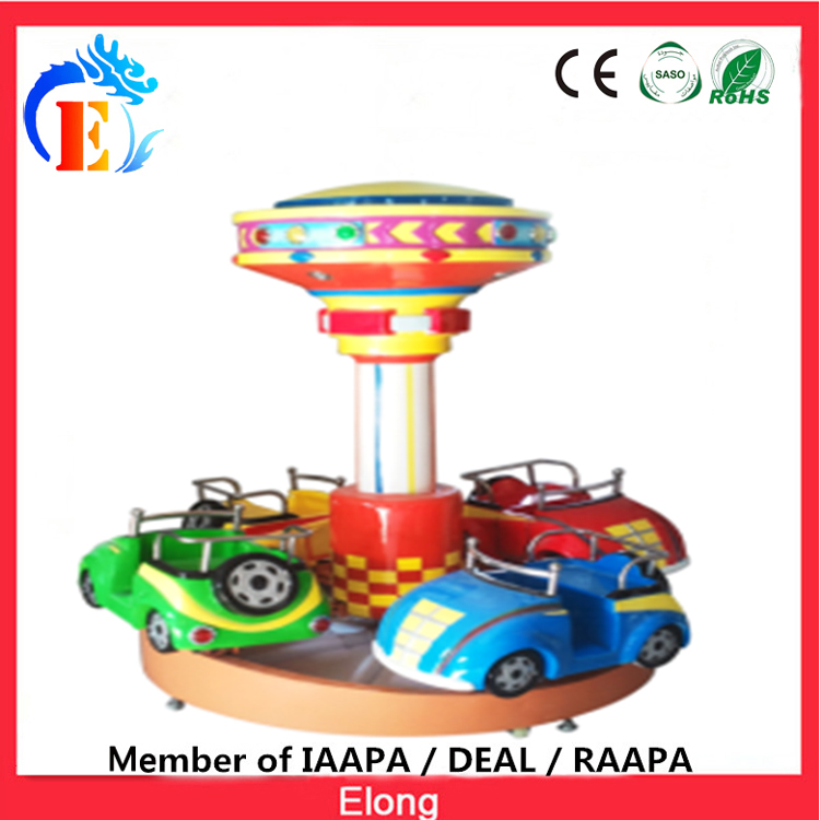 Elong little car carousel amusement merry go round 4 seats Railcar carousel